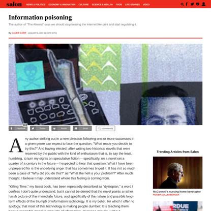 Information poisoning