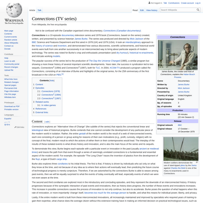 Connections (TV series) - Wikipedia