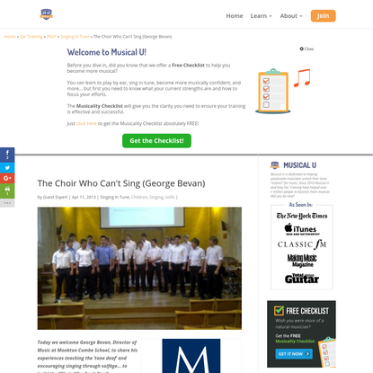 The Choir Who Can't Sing (George Bevan) | Musical U