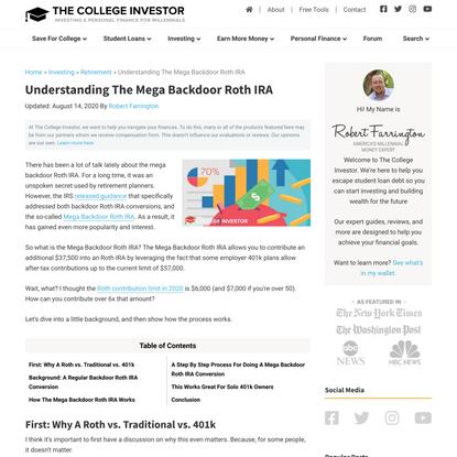 Understanding The Mega Backdoor Roth IRA