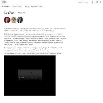 CogTool - IBM
