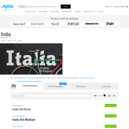 Italia | Webfont & Desktop font | MyFonts