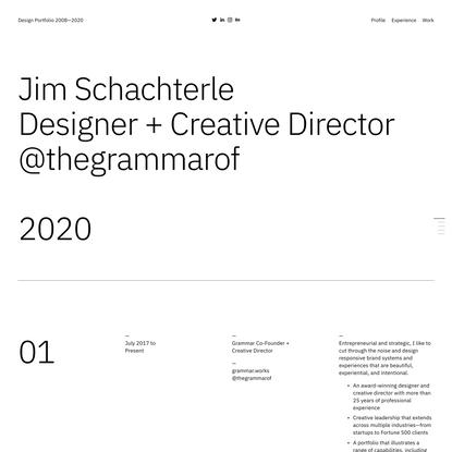 Design Portfolio 2008—2020
