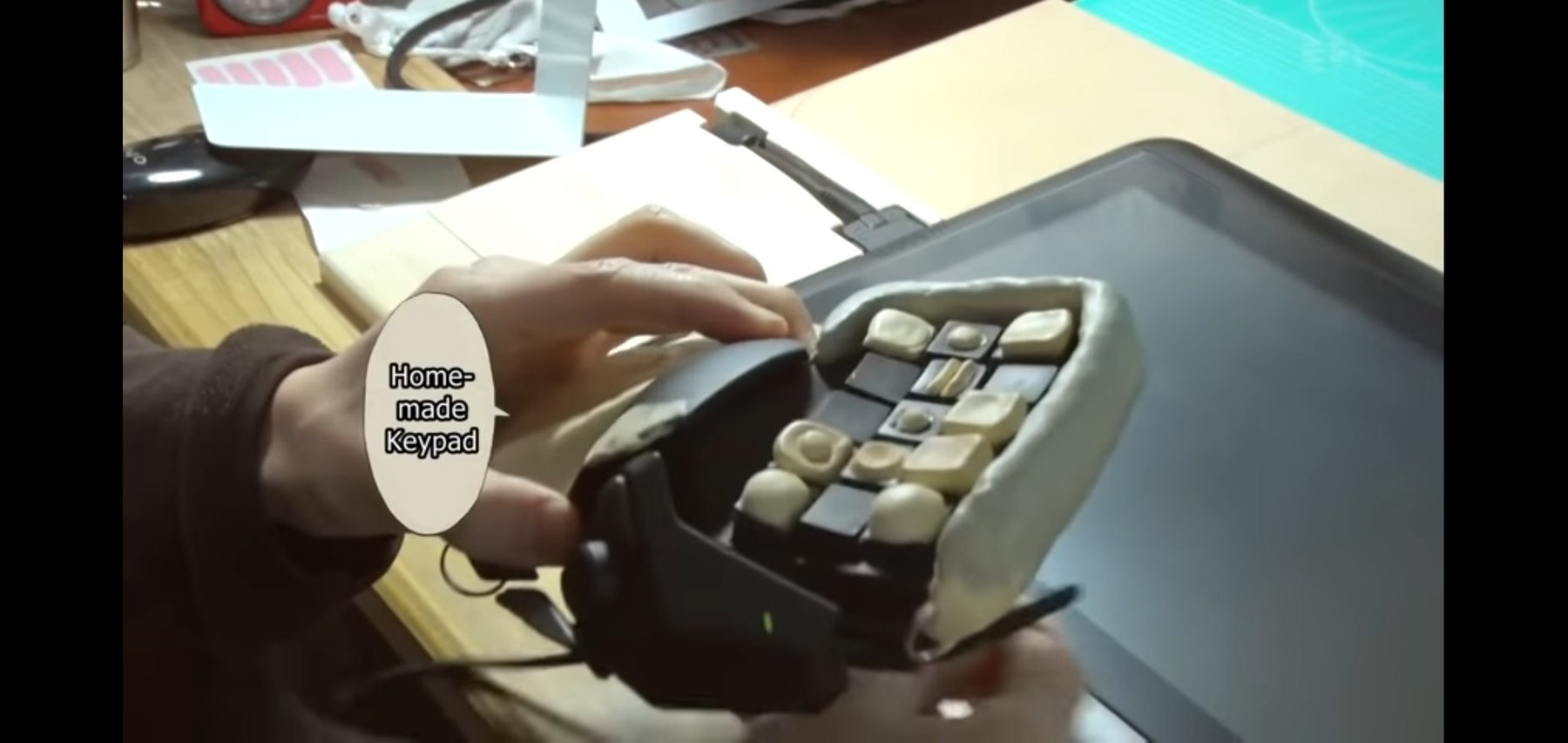 Junji Ito's homemade keypad