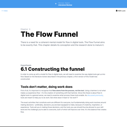 The Flow Funnel | Invisible Interface: A Model for Flow in Digital Tools | Zeno Kapitein