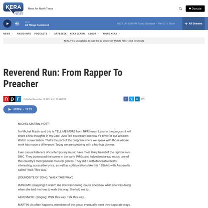 Reverend Run: From Rapper To Preacher