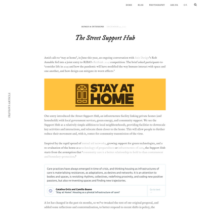 The Street Support Hub