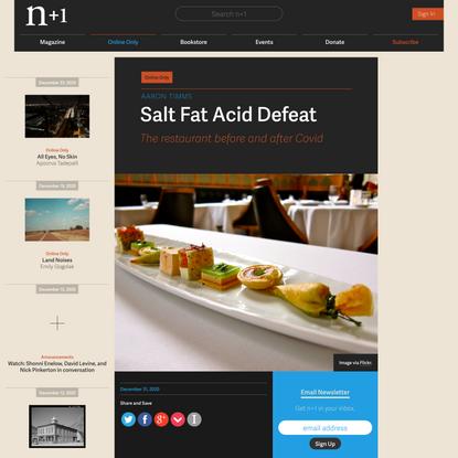 Salt Fat Acid Defeat