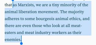 Animal Liberation and Marxism