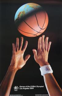 Basketball Poster '84 LA Olympics