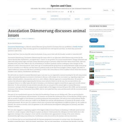 Assoziation Dämmerung discusses animal issues