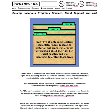 Protest Pdfs - Printed Matter
