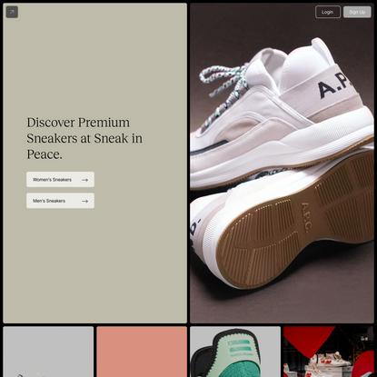 Sneak in Peace | Shop Women's & Men's Premium Sneakers & Trainers
