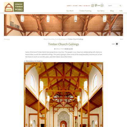 Beautiful Timber Church Ceilings Vermont Timber Works