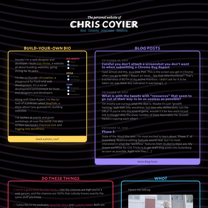 Homepage - Chris Coyier