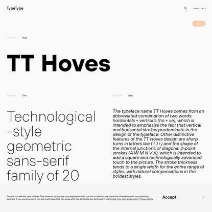 TT Hoves | Commercial Fonts | TypeType