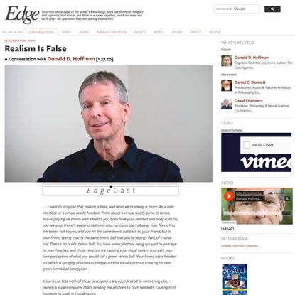 Realism Is False | Edge.org
