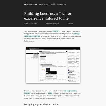 Building Lucerne, a Twitter experience tailored to me | thesephist.com
