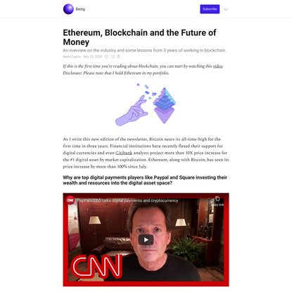 Ethereum, Blockchain and the Future of Money