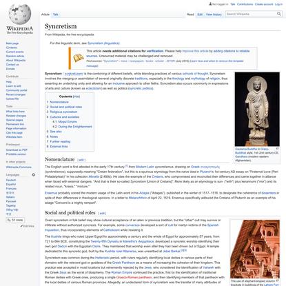 Syncretism - Wikipedia