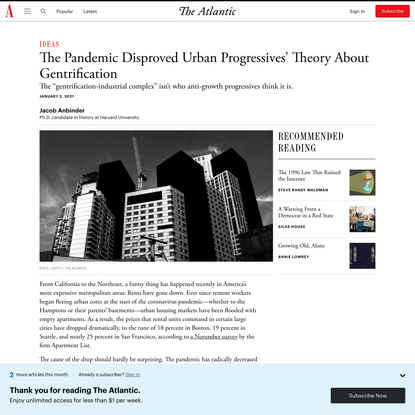 The Anti-growth Alliance That Fueled Urban Gentrification - The Atlantic