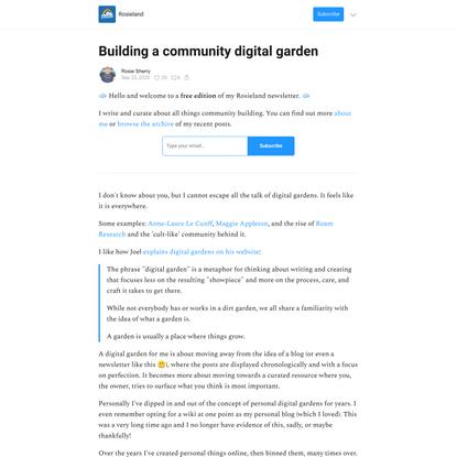Building a community digital garden