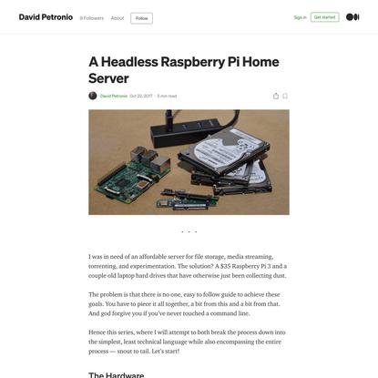 A Headless Raspberry Pi Home Server