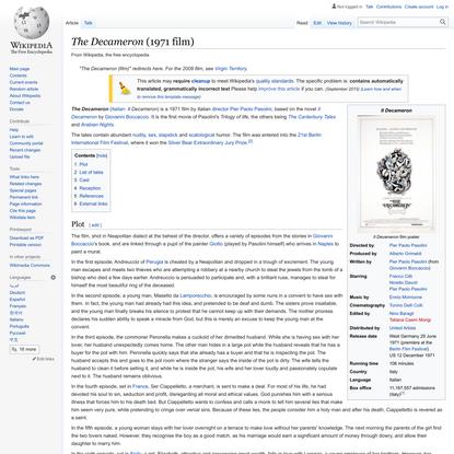 The Decameron (1971 film) - Wikipedia