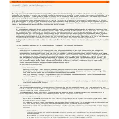 Interpretability in Machine Learning: An Overview | Hacker News