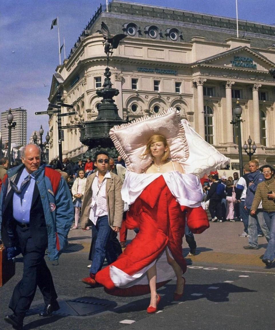 Tilda Swinton wearing Victor and Rolf Bed Dress