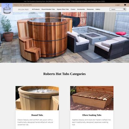 Wooden Hot Tubs, Cedar Hot Tubs & Wood Soaking Tubs at RHTubs