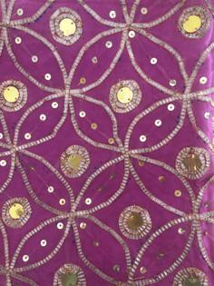 Gota work (golden thread) on babajis rumala