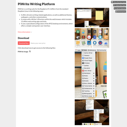 PiWrite Writing Platform by Nate Taylor