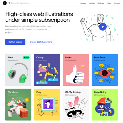 Storytale — High-class web illustrations under simple subscription
