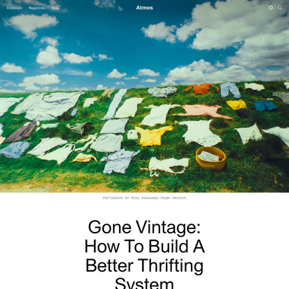 Gone Vintage: How To Build A Better Thrifting System   Atmos