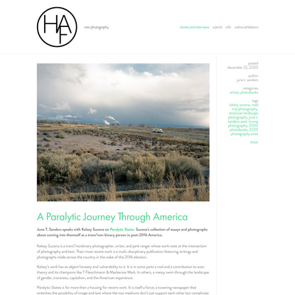 A Paralytic Journey Through America — Humble Arts Foundation