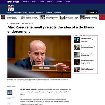 Max Rose vehemently rejects the idea of a de Blasio endorsement