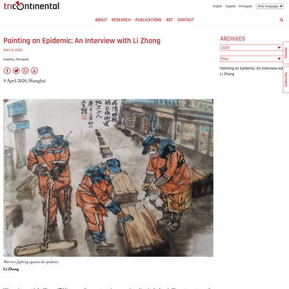 Painting an Epidemic: An Interview with Li Zhong