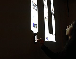 Infinite Scroll: An Interactive Installation