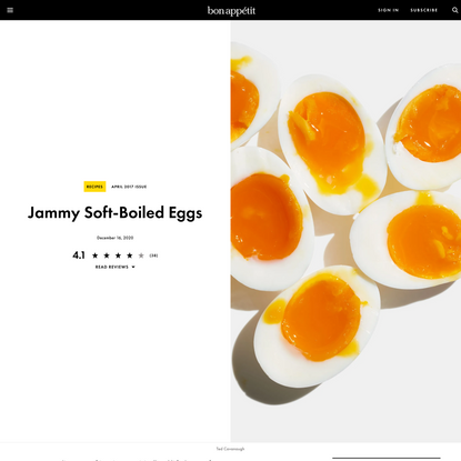 Jammy Soft-Boiled Eggs