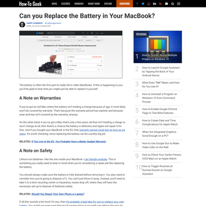 Can you Replace the Battery in Your MacBook?