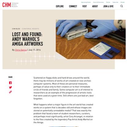 Lost and Found: Andy Warhol's Amiga Artworks - CHM