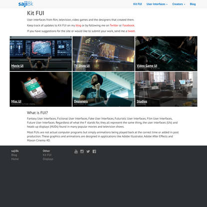 Kit FUI - User interfaces from movies, tv, video games and more