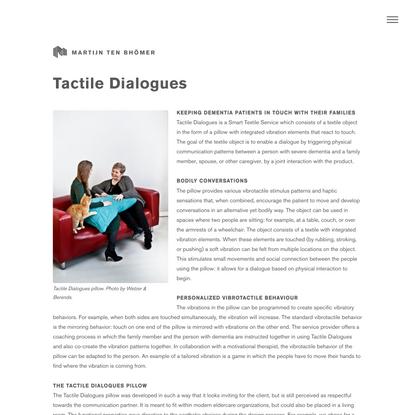Martijn ten Bhömer - Tactile Dialogues