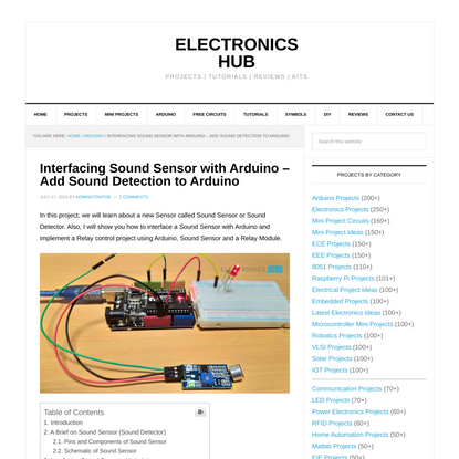 Interfacing Sound Sensor with Arduino - Add Sound Detection to Arduino - Add Sound Detection to Arduino