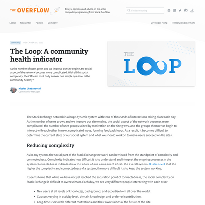 The Loop: A community health indicator - Stack Overflow Blog