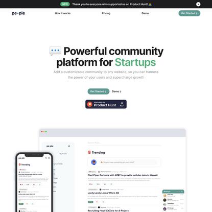 pe•ple - The Powerful Community Plugin for Startups