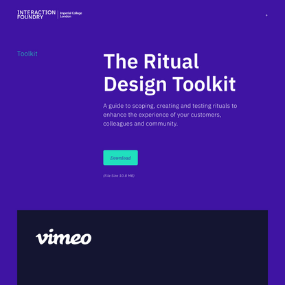 Ritual Design Toolkit — Interaction Foundry