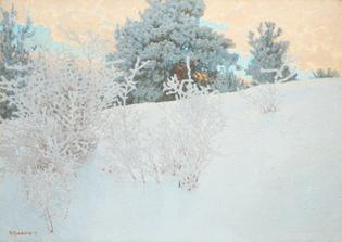 Gustaf Fjaestad, Vinterlandskap, 1919