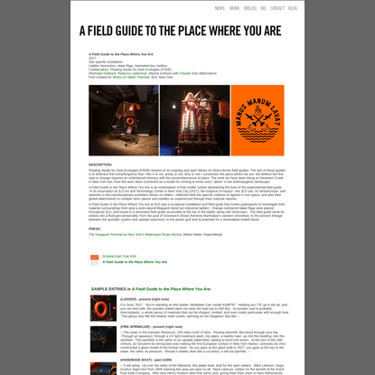 A Field Guide to the Place Where You Are